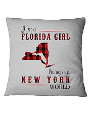 JUST A FLORIDA GIRL IN A NEW YORK WORLD Square Pillowcase thumbnail