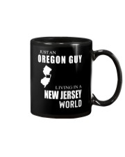 JUST AN OREGON GUY IN A NEW JERSEY WORLD Mug thumbnail