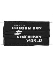 JUST AN OREGON GUY IN A NEW JERSEY WORLD Cloth face mask thumbnail
