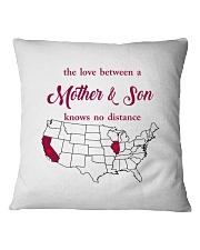 CALIFORNIA ILLINOIS THE LOVE MOTHER AND SON Square Pillowcase thumbnail