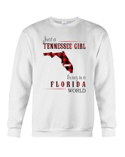 JUST A TENNESSEE GIRL IN A FLORIDA WORLD Crewneck Sweatshirt thumbnail