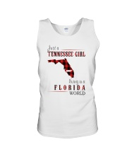 JUST A TENNESSEE GIRL IN A FLORIDA WORLD Unisex Tank thumbnail
