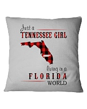 JUST A TENNESSEE GIRL IN A FLORIDA WORLD Square Pillowcase thumbnail