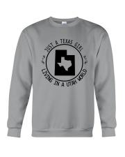TEXAS GIRL LIVING IN UTAH WORLD Crewneck Sweatshirt thumbnail
