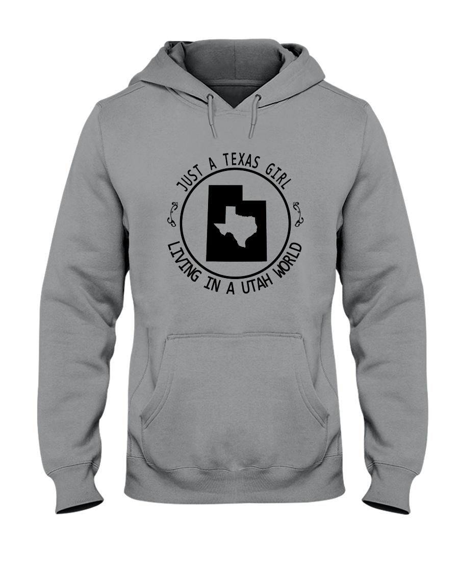 TEXAS GIRL LIVING IN UTAH WORLD Hooded Sweatshirt
