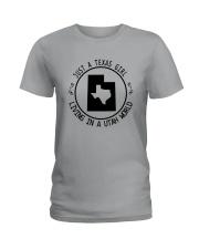 TEXAS GIRL LIVING IN UTAH WORLD Ladies T-Shirt thumbnail