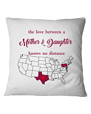 TEXAS PENNSYLVANIA THE LOVE MOTHER AND DAUGHTER Square Pillowcase thumbnail