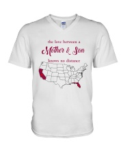 FLORIDA CALIFORNIA THE LOVE MOTHER AND SON V-Neck T-Shirt thumbnail