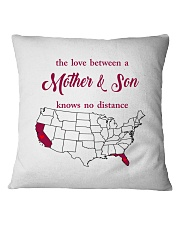 FLORIDA CALIFORNIA THE LOVE MOTHER AND SON Square Pillowcase thumbnail