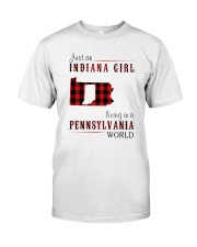 JUST AN INDIANA GIRL IN A PENNSYLVANIA WORLD Classic T-Shirt thumbnail