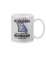 LIVE IN MISSOURI BUT I'LL HAVE MICHIGAN IN MY DNA Mug thumbnail
