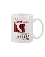 JUST A CALIFORNIA GIRL IN AN OREGON WORLD Mug thumbnail