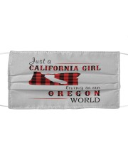JUST A CALIFORNIA GIRL IN AN OREGON WORLD Cloth face mask thumbnail