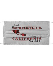 JUST A SOUTH CAROLINA GIRL IN A CALIFORNIA WORLD Cloth face mask thumbnail