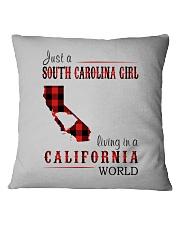 JUST A SOUTH CAROLINA GIRL IN A CALIFORNIA WORLD Square Pillowcase thumbnail