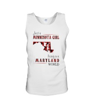 JUST A MINNESOTA GIRL IN A MARYLAND WORLD Unisex Tank thumbnail