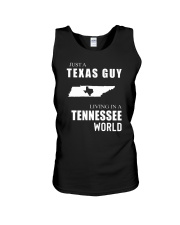 JUST A TEXAS GUY IN A TENNESSEE WORLD Unisex Tank thumbnail