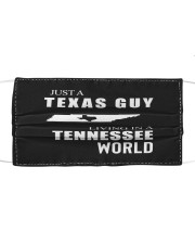 JUST A TEXAS GUY IN A TENNESSEE WORLD Cloth face mask thumbnail