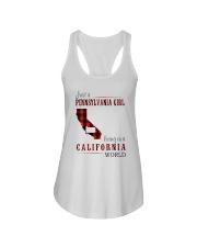 JUST A PENNSYLVANIA GIRL IN A CALIFORNIA WORLD Ladies Flowy Tank thumbnail