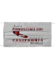 JUST A PENNSYLVANIA GIRL IN A CALIFORNIA WORLD Cloth face mask thumbnail