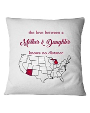ARIZONA MICHIGAN THE LOVE MOTHER AND DAUGHTER Square Pillowcase thumbnail