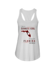 JUST A GEORGIA GIRL IN A FLORIDA WORLD Ladies Flowy Tank thumbnail