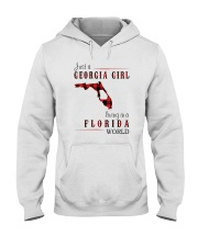 JUST A GEORGIA GIRL IN A FLORIDA WORLD Hooded Sweatshirt front
