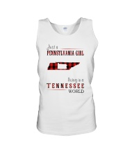 JUST A PENNSYLVANIA GIRL IN A TENNESSEE WORLD Unisex Tank thumbnail