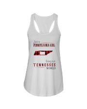 JUST A PENNSYLVANIA GIRL IN A TENNESSEE WORLD Ladies Flowy Tank thumbnail