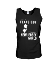 JUST A TEXAS GUY IN A NEW JERSEY WORLD Unisex Tank thumbnail