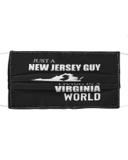 JUST A NEW JERSEY GUY IN A VIRGINIA WORLD Cloth face mask thumbnail