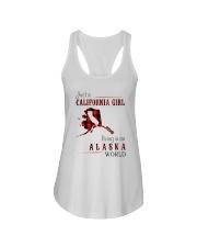 JUST A CALIFORNIA GIRL IN AN ALASKA WORLD Ladies Flowy Tank thumbnail