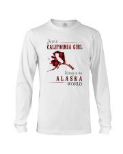 JUST A CALIFORNIA GIRL IN AN ALASKA WORLD Long Sleeve Tee thumbnail