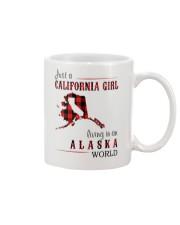 JUST A CALIFORNIA GIRL IN AN ALASKA WORLD Mug thumbnail