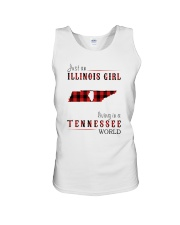 JUST AN ILLINOIS GIRL IN A TENNESSEE WORLD Unisex Tank thumbnail