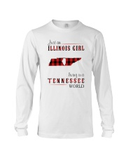 JUST AN ILLINOIS GIRL IN A TENNESSEE WORLD Long Sleeve Tee thumbnail