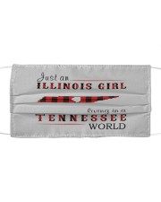 JUST AN ILLINOIS GIRL IN A TENNESSEE WORLD Cloth face mask thumbnail