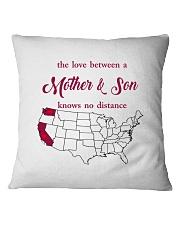 CALIFORNIA WASHINGTON THE LOVE MOTHER AND SON Square Pillowcase thumbnail