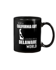 JUST A CALIFORNIA GUY IN A DELAWARE WORLD Mug thumbnail
