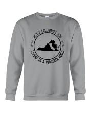 CALIFORNIA GIRL LIVING IN VIRGINIA WORLD Crewneck Sweatshirt thumbnail