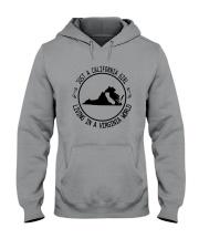 CALIFORNIA GIRL LIVING IN VIRGINIA WORLD Hooded Sweatshirt front