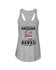 LIVE IN ARIZONA BUT I'LL HAVE HAWAII IN MY DNA Ladies Flowy Tank thumbnail
