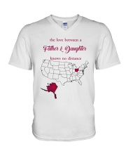 OHIO ALASKA THE LOVE FATHER AND DAUGHTER V-Neck T-Shirt thumbnail
