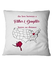 OHIO ALASKA THE LOVE FATHER AND DAUGHTER Square Pillowcase thumbnail