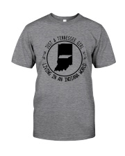 TENNESSEE GIRL LIVING IN INDIANA WORLD Classic T-Shirt thumbnail