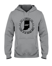 TENNESSEE GIRL LIVING IN INDIANA WORLD Hooded Sweatshirt front