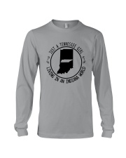 TENNESSEE GIRL LIVING IN INDIANA WORLD Long Sleeve Tee thumbnail