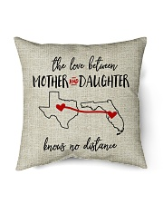 """TEXAS FLORIDA THE LOVE MOTHER AND DAUGHTER Indoor Pillow - 16"""" x 16"""" back"""