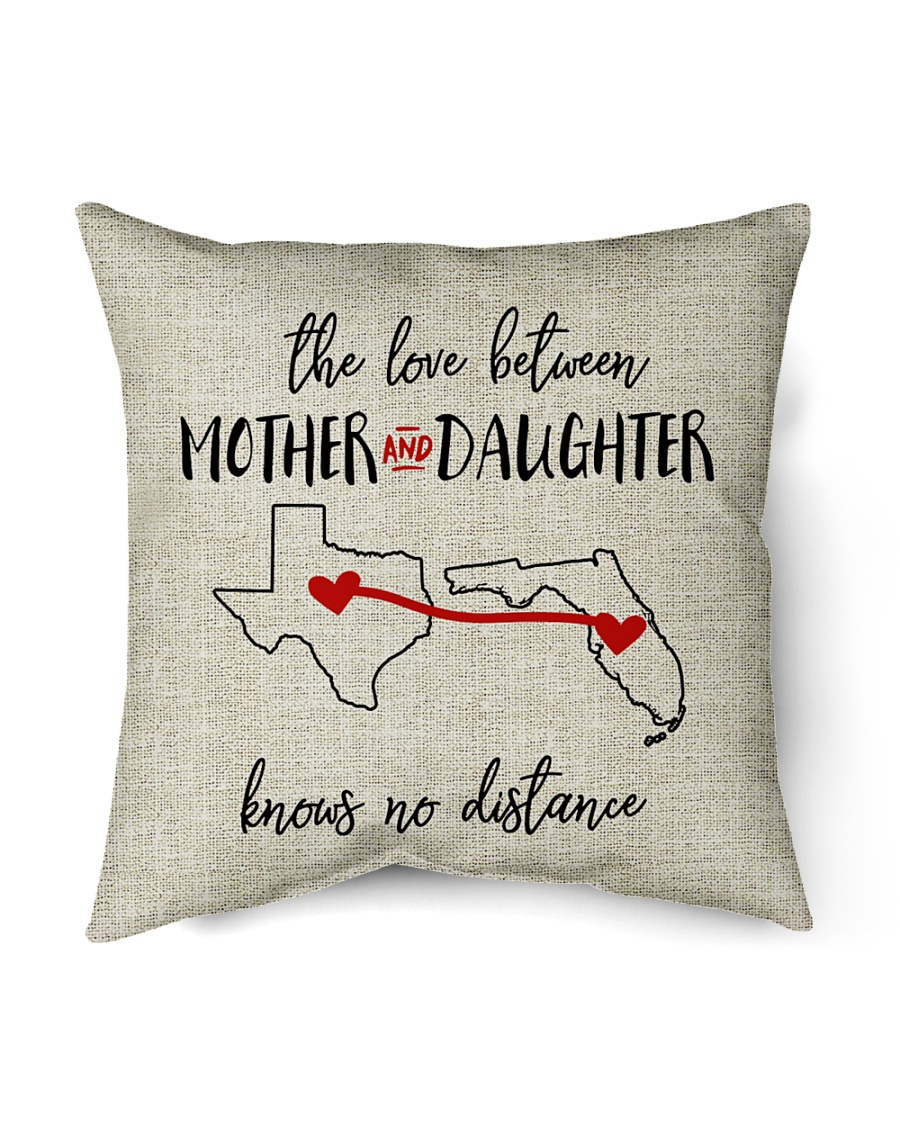 """TEXAS FLORIDA THE LOVE MOTHER AND DAUGHTER Indoor Pillow - 16"""" x 16"""""""