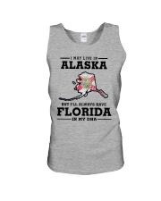 LIVE IN ALASKA BUT I'LL HAVE FLORIDA IN MY DNA Unisex Tank thumbnail